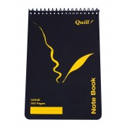 Quill 300 Page Note Book - Black 300pg