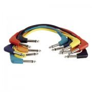DAP Audio 6,3 jack-jack kábel 90 fok 0,6 m 6 db Stereo