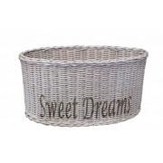 Ovalen Witte Rieten Lampenkap 36 cm - Sweet Dreams