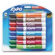 Low Odor Dry Erase Marker, Chisel Tip, Assorted, 16/set