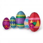 ONECONCEPT EGG FAMILY, Easter Egg, Oua gonflabile decorative de Paste, 120cm, suflante, cu LED-uri