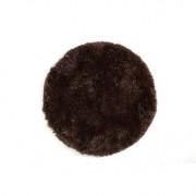 Alfombra de pelo redonda color chocolate 100 cm UGO - Miliboo