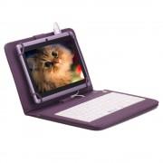 Husa Tableta 8 Inch Cu Tastatura Micro Usb Model X , Mov , Tip Mapa