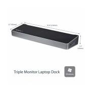 StarTech.com Docking Station USB3DOCKH2DP, 5x USB 3.0, 1x RJ-45, 2x DisplayPort