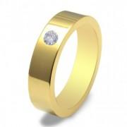 Inel magnetic cu zirconiu placat cu aur cod VOX 51