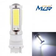 MZ T25 25W blanco COB LED coche de copia de seguridad / luz trasera de la niebla 1250lm - plata
