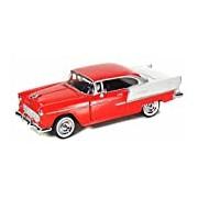 "Motormax GOTZMM73229RD 1:24 Scale Red ""1955 Chevrolet Bel Air"" Die Cast Model Car"