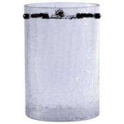 Lights by B&Q Crackle Clear Frosted Cylinder Light Shade (D)11cm
