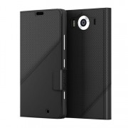 Etui Mozo Thin Flip Cover Czarny do Lumia 950 (950TFBG)