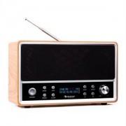 auna Charleston, DAB+- digitális hordozható rádió, FM/AM, RDS, ébresztőóra, bükk (KC6-CHARLESTON-W)