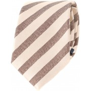 Krawatte Seide Braun Streifen - Braun