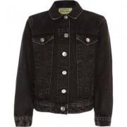 River Island Girls washed Black denim jacket