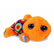 BabyCentre Suki Gifts Lil Peepers Fun Laguna Neon Circles Turtle Plush Toy with Silver Sparkle Accents (Small, Yellow)