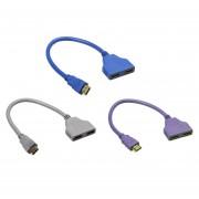 ER HDMI 1 a 2 adaptador doble portador de señal Convertir Cable para Video TV HDTV Azul.