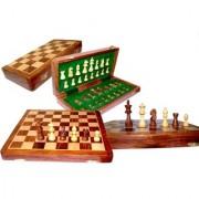 Vintage Wooden Piece Tournament Travel set Chess Folding Board