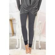Womens Mia Lucce Lounge Leggings - Stripe Sleepwear Nightwear