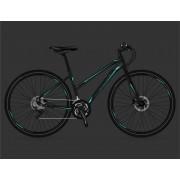 "Велосипед Sprint SINTERO PLUS 28""x480; LADY, RIGID FORK; Color: BLACK MATT; Decals: TURQUASE"