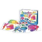 SentoSphere Aquarellum Junior - Fish - Arts and Crafts Watercolor Paint Set