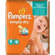 Pampers Simply Dry 4 für 7-18 kg 37 Stk