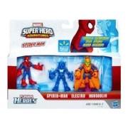 Super Hero Adventures Marvel Playskool Exclusive Mini Figure 3-Pack Spider-Man, Electro & Hobgoblin