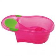 dBb Remond 306248 Baby Bathtub with Inbuilt Baby Chair Translucent Pink 0-6 Months