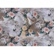 Hartie pt. ambalare, 70 x 200cm/rola, 70gr/mp, model nunti, HERLITZ Wedding