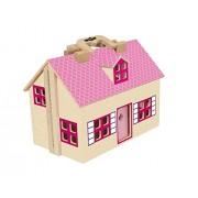 Woodyland Pretend Gioca Fold Trendy and Go Dollhouse Set (11 pezzi)