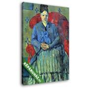 Paul Cézanne: Portré Cézanne asszonyságról a piros fotelban (20x25 cm, Vászonkép )