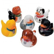 Fun Express - One Dozen Dog Rubber Duckys (1-Pack of 12)