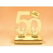 50. születésnapra pohár szett