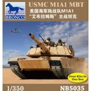 Bronco Models USMC M1A1 Abrams Main Battle Tank (Contains 4 kits), Scale 1/350
