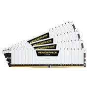 Corsair CMK32GX4M4B3200C16W Vengeance LPX Kit di Memoria RAM da 32 GB, 4x8 GB, DDR4, 3200 MHz, XMP 2.0 High Performance, Bianco
