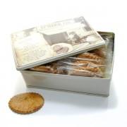 Boite à biscuits 20 sablés artisanaux abricot coquelicot 20x50gr soit 1000gr