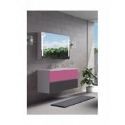 Ansamblu mobilier Riho cu lavoar ceramic 120cm gama Cambio Comodo, Set 23 Silk