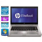 HP EliteBook 8470P - 14'' - Intel Core i5-3320M / 2.60 GHz - RAM 8 Go - HDD 250 Go - DVDRW - Webcam - Gigabit Ethernet - Wifi - Windows 7 Professionnel