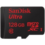SanDisk 128 GB Ultra MicroSDXC 128GB UHS-I Class 10 Memory Card