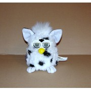 Furby Blanc Tacheté Peluche Parlante 1ere Generation Articulé Tiger Hasbro