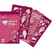 Sticker Book 9-1/2 X6 -Sweet Shop - 254 Stickers