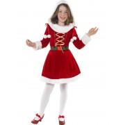 Costum Craciun Copii Craciunita Little Miss Santa