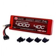 Venom Sport Power 40C 2S 4000Mah 7.4 Lipo Battery Roar Approved With Uni Plug