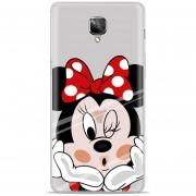 Funda De TPU Silicona La Disney Minnie Mouse Para OnePlus 3t / 3 (5 Pulgadas) Teléfonos Móviles Rojo