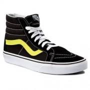 Sneakersy VANS - Sk8-Hi Reissue VN0A2XSBMVJ (Neon Leather) Black/Neon