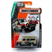 LAND ROVER DEFENDER 110 (MBX Swamp) * MBX Explorers * 2014 Matchbox on a Mission Basic Die-Cast Vehicle (#101 of 120)