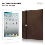 Case for Tablet, Elago Note Leather Cover - луксозен кожен калъф за iPad Air, iPad 2/3/4, Кафяв (7501)