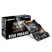 ASRock B150 Pro4/D3 Scheda Madre Intel 1151, Nero