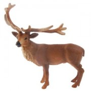 ELECTROPRIME 12cm High Male Red Deer Figure Kids Ancient Modern Wild Animals Learning Aid