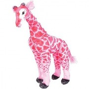 25 Large Standing Plush Giraffe - PINK by Adventure Planet