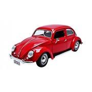 Burago - 12029 R - Volkswagen Escarabajo Kafer - 1955 - 1/18 Escala - Rojo