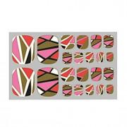 adoráveis unhas etiqueta bronzeadores rosa 3d adesivos de unhas