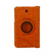 Funda Giratoria Samsung Galaxy Tab 3 7 pulgadas naranja decorada